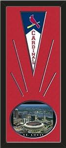 St. Louis Cardinals Wool Felt Mini Pennant & Busch Stadium 1995 Photo - Framed... by Art and More, Davenport, IA