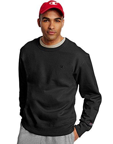 Champion Men's Powerblend Pullover Sweatshirt, Black, X-Large