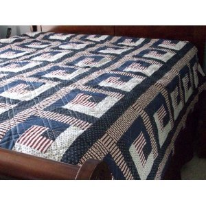 Patriotic Country Quilt in Queen Size