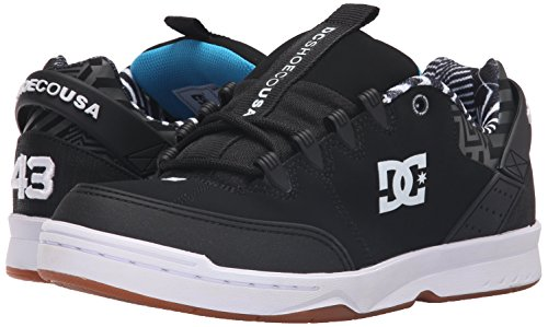 DC Men's Syntax KB Skate Shoe, Black/White/Gum, 11 M US