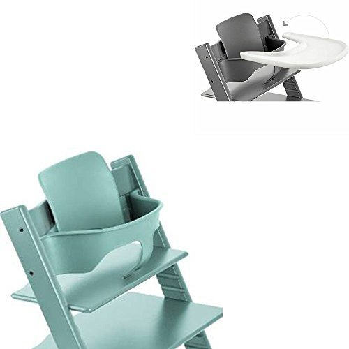 stokke tripp trapp high chair baby set tray aqua blue by stokke best deals toys. Black Bedroom Furniture Sets. Home Design Ideas