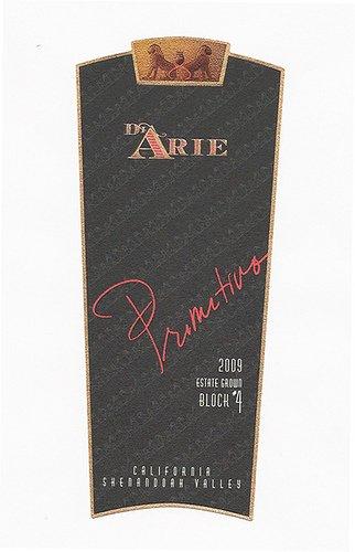 2009 C.G. Di Arie Flagship Wines Primitivo Block #4, Estate Grown 750Ml