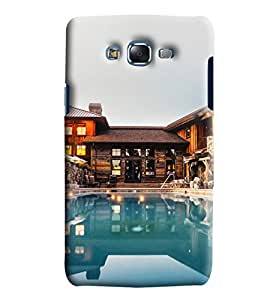 Blue Throat Resort With Pool Printed Designer Back Cover/Case For Samsung Galaxy J7