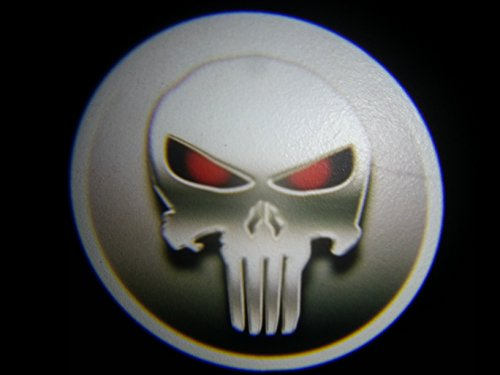 Punisher Skull Ghost Door Logo Projector Shadow Puddle Laser Led Lights 7W (Qty 2)