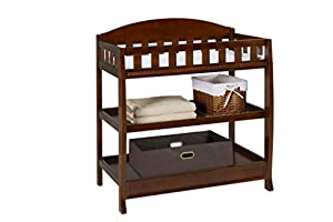 Delta Children Slumber Time Elite Changing Table, Espresso Truffle