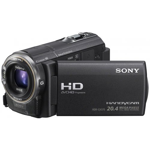 Sony HDR-CX570E camcorder,1920 x 1080 pix, 7.6 cm (3.0 Inch),Black
