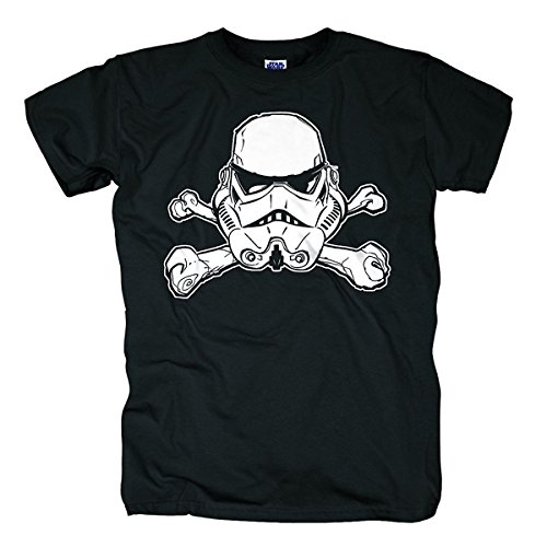 Bravado Star Wars - Trooper Skull-T-shirt  Uomo    Nero (Schwarz 001) X-Large