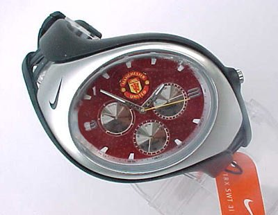 Nike  Triax Swift 3i Analog Manchester United Club Team Watch - Black/Red - WD0002-013