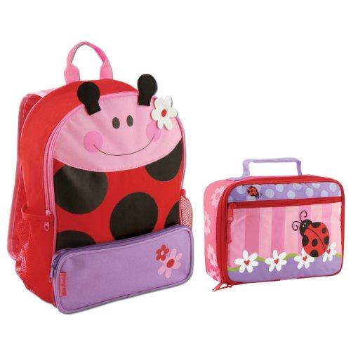 Stephen Joseph Sidekick Ladybug Backpack And Classic Lunch Box Combo - Girls Backpacks front-1024364