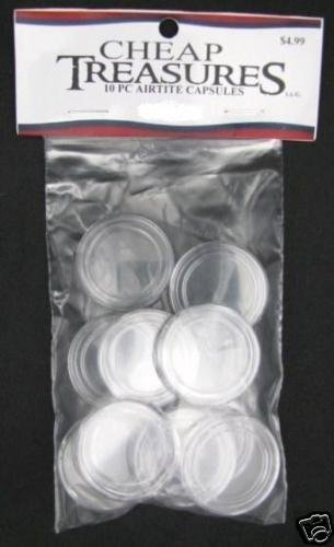 10 PACK OF DIRECT FIT AIRTITE COIN CAPSULES QUARTERS A24