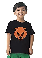 Mintees 100% Combed Cotton Boy's Graphic Print Black Colour Tshirt MBRNT01-001_6-7Yrs