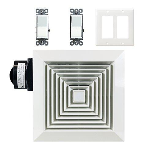 Orbit Ventilation Fan Package Economy Series Oe50 W/ 2 Decorator Switches & Wall Plate