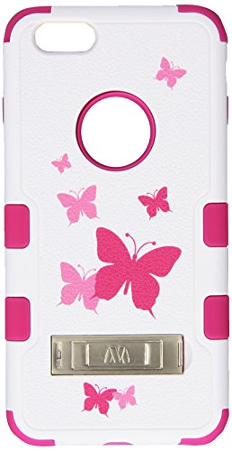 MyBat TUFF Hybrid Phone Protector Cover with Stand for iPhone 6 Plus - Retail Packaging - Pink