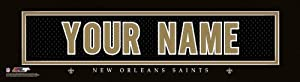 NFL Official Personalized Stitched Jersey Print Black Framed New Orleans Saints by You
