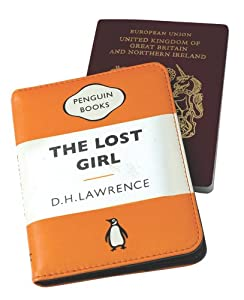 The Lost Girl Orange Penguin Passport Case