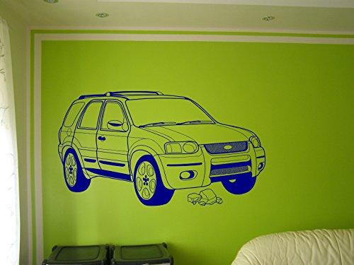 ford-escape-art-wand-aufkleber-ford-art-wand-aufkleber-ford-wand-grafiken-dunkelblau