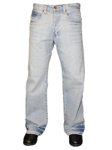 New Mens Blue Revolver Mexican Designer Classic Boot Cut Denim Jeans Size W32 L30