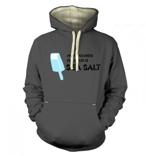 "Sea Salt Ice Cream Hoodie (Premium) - Japanese Anime Hoodie - Graphite X Large (49"" Chest)"