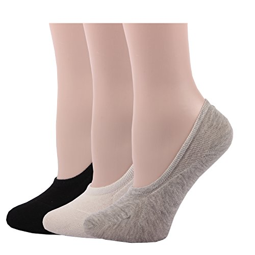 RioRiva Women Short Comfort No Show Low-Cut Liner Socks (3 Pack ) (Black White Gray ) (Silk Pant Liner compare prices)