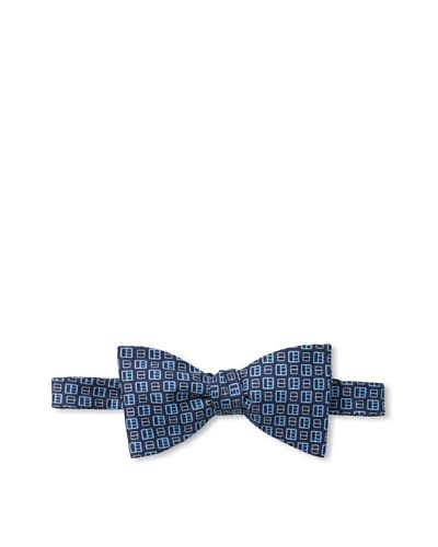 J.McLaughlin Men's Mini Bridle Bowtie, Navy/Sky Blue/Light Blue