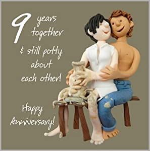 Wedding Anniversary Gift Ideas 9th : 9th Wedding Anniversary Card: Amazon.co.uk: Kitchen & Home