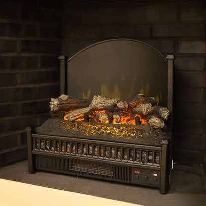 Comfort Smart 23-Inch Deluxe Electric Fireplace Insert/Log Set Heater w/ Back Screen - ELCG347 picture B006L8NM4G.jpg