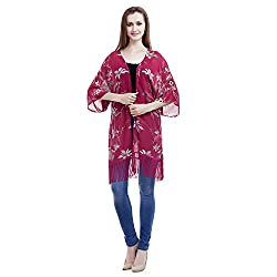 MansiCollections Causal Women's Printed Shrug (X-Large)