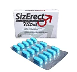 SizErect Ultra Advanced Formula - Maximum Strength Male Sexual Enhancement Pills - New & Improved Fast Acting, Long Lasting Formula - Limited Supply (1)