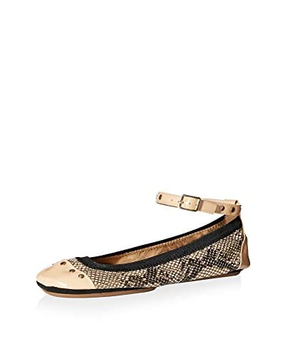 Yosi Samra Women's Abbey Ballet Flat with Ankle Strap