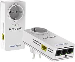 "Netgear XAVB6504-100PES - Kit adaptadores PowerLine de 600 Mbps con ""Pass Trough"" y 4 puertos (1 Gigabit)"