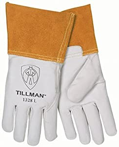 Large 1328 TIG Welders Gloves, Goatskin (10 Per Pack) - R3-1328L from John Tillman Company