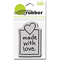 Stampendous Cling Rubber Stamp - With Love Window