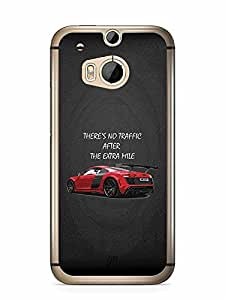 YuBingo There is no Traffic after the Extra Mile Designer Mobile Case Back Cover for HTC One M8
