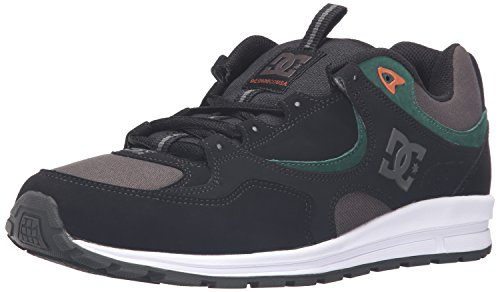 DC Men's Kalis Lite M Skate Shoe, Black/Green/Grey, 10.5 M US