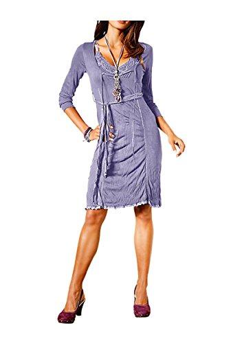 Linea Tesini Damen-Kleid Kleid Violett Größe 36