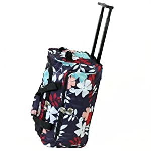 Womens Mens And Girls 20 Flight Cabin Bag Floral Blue Design York Design With Multi Colour Flowers Holdall Travel Luggage Holdall Weekend Bag Maternity Bag Baby Bag Flight Cabin Bag School College Holdall Sport Gym Bagflight Bagideal For Business And Good