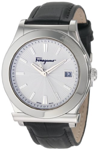 Ferragamo Men's F62LBQ9902 S009 1898 Black Genuine Leather Watch
