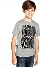 Cotton Rich Zebra Print T-Shirt