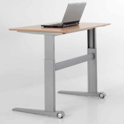"""Conset Electric Adjustable Height Office Table Desk 46"""" X 29"""" Rectangle Top, 26"""" To 46"""" Height, 176 Lb. Lift Capacity *Free Shipping!*"""