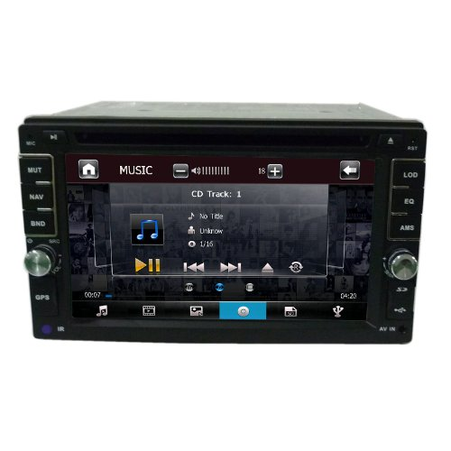"Nissan Navigation System Universal DVD Player 6.2"" with GPS Navi/ Dual Zone/ SWC/ USB SD slot"