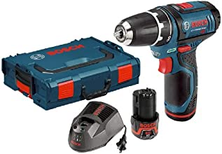 Bosch PS31-2AL 12-Volt Max Lithium-Ion 3/8-Inch 2-Speed Drill/Driver Kit with 2 Batteries, Charger and L-BOXX Case