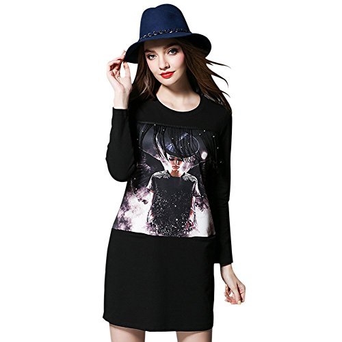 aizhejun tassel stitching loose long-sleeved T-shirt female long section 2296 (Canada Longsleeved Shirt compare prices)