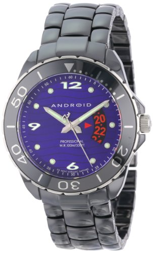 Android Men's Exotic Divemaster Swiss Quartz Ceramic Watch - Purple Dial AD417AKPU - 41Agn4ZYVHL - Android Men's Exotic Divemaster Swiss Quartz Ceramic Watch – Purple Dial AD417AKPU