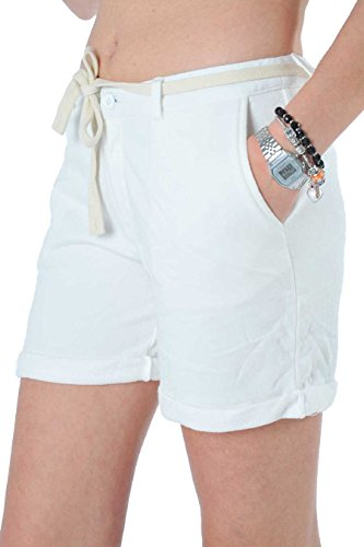 Short Pant Cott. Fl. Donna Sun68 31 Bianco Panna, XL MainApps
