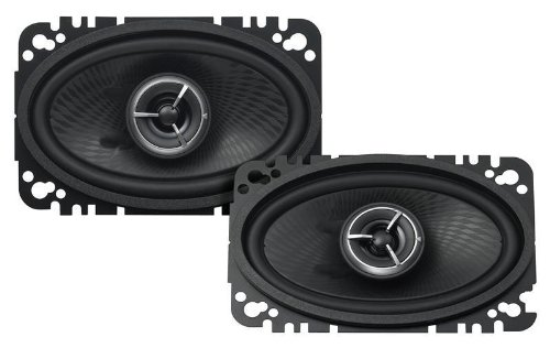 "Kenwood Kfc-X463C Excelon 4X6"" 2-Way Speaker System - Pair (Black)"