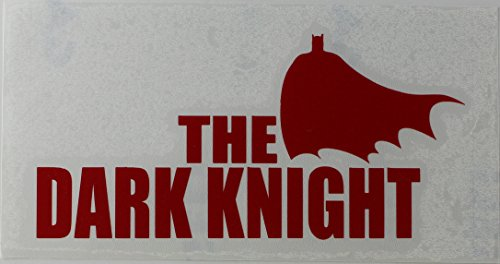 Licenses Products DC Comics Batman Dark Knight Rub On Sticker, Red