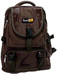Skyline College/School/Office Backpack Bag-Brown- With Warranty-523