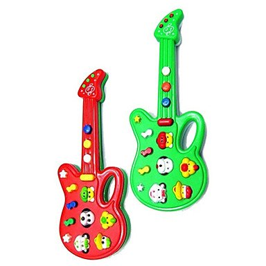 Zcl Electric Mini Musical Guitar With 12 Tunes(Powered By 2Aa,Assorted Colors) , Green