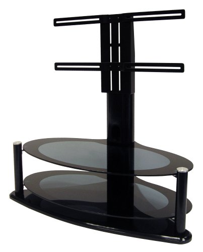 Icon Aero 4250+ - Black Glass Stand For LCD  &  Plasma Up to 42