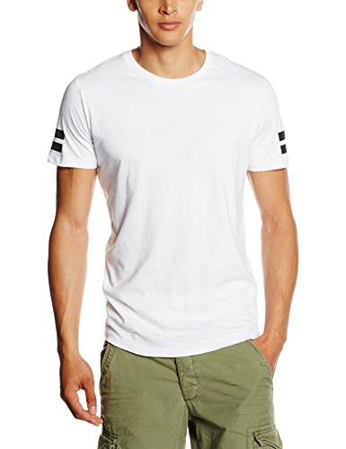 JACK & JONES JCOBORO TEE SS CREW NECK, T-shirt Uomo, Bianco (White), Medium